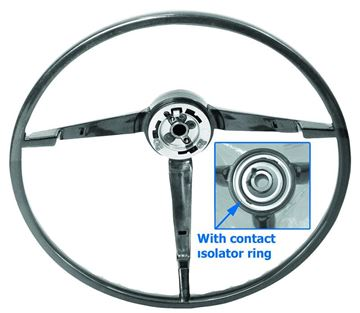 Picture of STEERING WHEEL 65-66 BLACK STD : SW02 MUSTANG 65-66