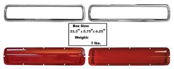 Picture of TAIL LAMP LENS & BEZEL 4PCS : 3643MD MUSTANG 68-70