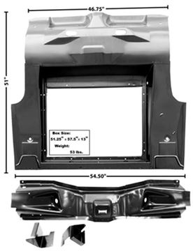 Picture of TRUNK FLOOR COMPLETE 1965-70 CV : 3649SAWT MUSTANG 65-66