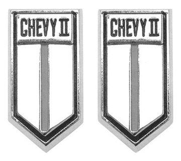 Picture of DOOR PANEL EMBLEM CHEVY II 66-67 : 4539568 NOVA 66-67