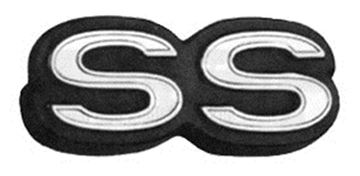Picture of EMBLEM TRIM PANEL REAR SS 68-72 : M1635 NOVA 68-72