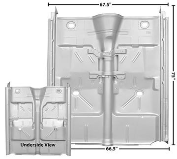 Picture of FLOOR PAN COMPLETE W/ROCKERS 62-67 : 1636EWT NOVA 62-67
