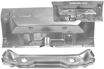 Picture of FLOOR/REAR PAN SEAT 62-67 W/BRACES : 1632BWT NOVA 62-67
