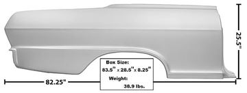 Picture of QUARTER PANEL FULL RH 1962-65 : 1621AWT NOVA 62-65