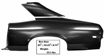Picture of QUARTER PANEL FULL W/SAIL LH 68-69 : 1623 NOVA 68-69
