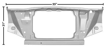 Picture of RADIATOR SUPPORT 66-67 : 1639WT NOVA 66-67