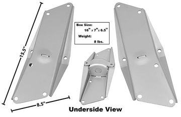 Picture of RADIATOR SUPPORT FRAME RAIL BRACE : 1639CWT NOVA 66-67