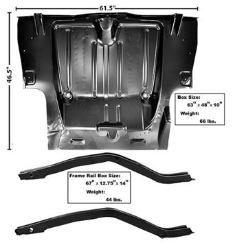 Picture of CUSTOM TRUNK FLOOR & FRAME RAIL KIT 67-69 : 1048CTUB CAMARO 67-69