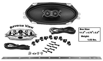 Picture of DASH SPEAKER 4X10 DUAL VOICE COIL 66-70 : AMR-410UK CHEVELLE 66-70