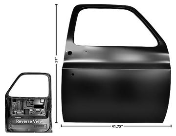 Picture of DOOR SHELL RH 77-87 PICKUP 77-91 : 1103KH CHEVY PICKUP 77-91