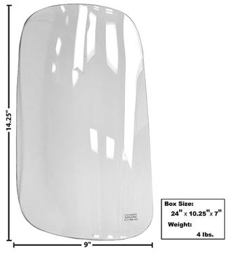 Picture of REAR CORNER WINDOW RH 47-55 CLEAR 47-55 : G1102 CHEVY PICKUP 47-55