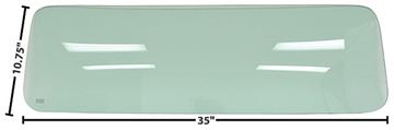 Picture of REAR WINDOW SMALL 55-59 TINTED GREN 55-59 : G1111 CHEVY PICKUP 55-59