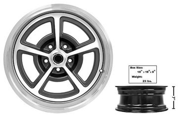 Picture of FORD MAGNUM ALLOY WHEEL 17 X 7 : FW177 MUSTANG 65-73