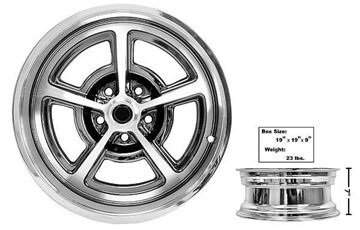 Picture of FORD MAGNUM ALLOY WHEEL 17 X 7 : FW177C MUSTANG 65-73