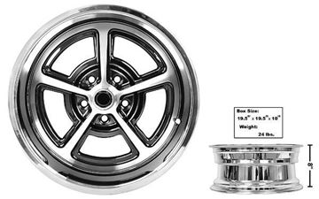 Picture of FORD MAGNUM ALLOY WHEEL CHROME 17 X 8 : FW178C MUSTANG 65-73