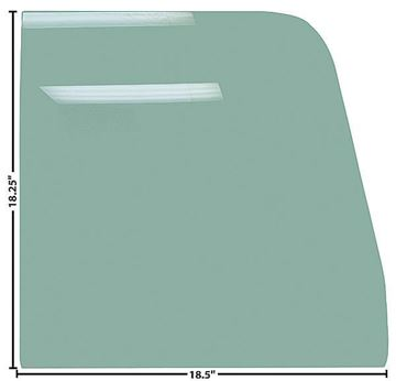 Picture of DOOR GLASS 55-59 RH OR LH TINTED 55-59 : G1125 CHEVY PICKUP 55-59