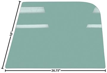 Picture of DOOR GLASS 67-72 RH OR LH TINTED 67-72 : G1131 CHEVY PICKUP 67-72