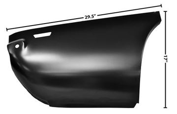 Picture of QUARTER PANEL REAR LOWER SEC.RH 69 69-69 : 1066EA CAMARO 69-69