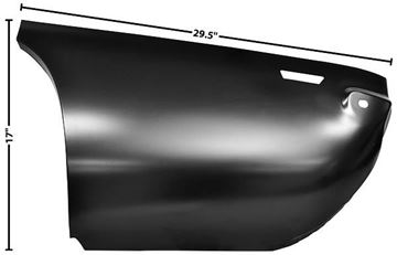 Picture of QUARTER PANEL REAR LOWER SEC. LH 69 69-69 : 1066EB CAMARO 69-69