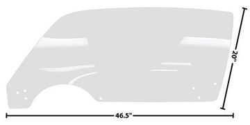 Picture of DOOR GLASS LH 71-81 CLEAR 71-81 : 1076FZ CAMARO 71-81