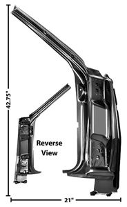 Picture of DOOR HINGE PILLAR ASSY RH 66 66-66 : 1483W CHEVELLE 66-66