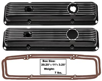 Picture of VALVE COVER ALUMINUM BLACK 62-74 : 1015B NOVA 62-74