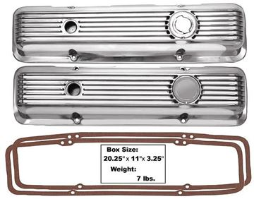 Picture of VALVE COVER POLISHED ALUMINUM 67-82 : 1015 CAMARO 67-82