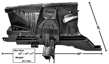 Picture of SHOCK TOWER/APRON ASSEMBLY RH 71-73 71-73 : 3630Y MUSTANG 71-73