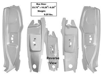Picture of B-PILLAR KIT WELD-THRU PRIMER 4PCS : 3644AWT MUSTANG 65-66