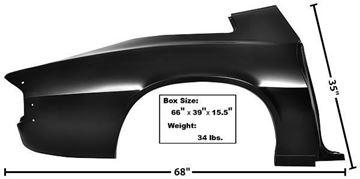 Picture of QUARTER PANEL FULL RH 74-81 74-81 : 1066KJ CAMARO 74-81