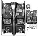 Picture of FLOOR PAN W/BRACES 75-81 M/T 75-81 : 1046UA FIREBIRD 75-81
