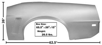 Picture of QUARTER PANEL COMPLETE LH 69 CONVT. 69-69 : 3644MWT MUSTANG 69-69