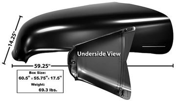 Picture of HOOD 47-54 SEAMLESS 1 PIECE HOOD : 1099TA CHEVY PICKUP 47-55