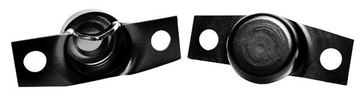 Picture of TAILGATE TRUNNION PAIR BLACK : 3791 BRONCO