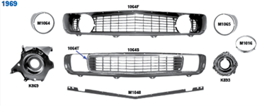 Picture for category Grilles : Camaro