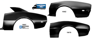 Picture for category Quarter Panel Molding : Camaro