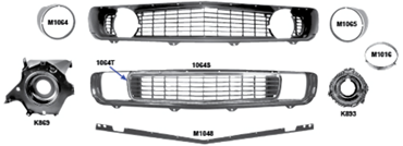 Picture for category Headlamp Buckets & Brackets : Camaro