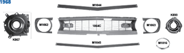 Picture for category Headlamp Doors & Bezels : Camaro