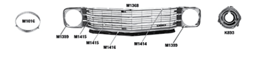 Picture for category Headlamp Buckets & Brackets : Chevelle
