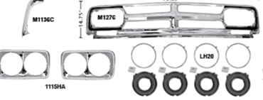 Picture for category Headlamp Doors & Bezels : Chevy Pickup