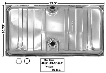 Picture of GAS TANK 67-68 STAINLESS : T10A CAMARO 67-68