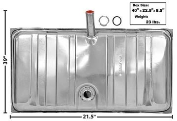 Picture of GAS TANK 69 STAINLESS : T11A CAMARO 69-69