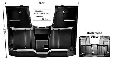 Picture of CAB FLOOR COMPLETE 60-63 : 1106ARC CHEVY PICKUP 60-63