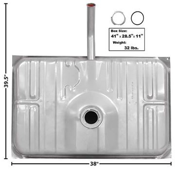 Picture of GAS TANK 73-77 19 GAL : T30B MONTECARLO 73-77