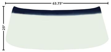Picture of WINDSHIELD 68-72 GREEN TINT SHADE : 1400PC MONTECARLO 70-72
