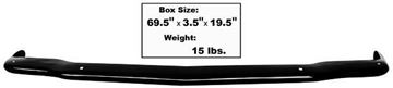 Picture of BUMPER/ FRONT PAINTED 65-66 : 3636BK MUSTANG 65-66
