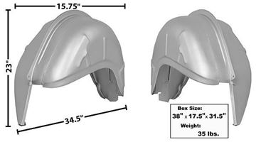 Picture of WHEELHOUSE OUTER & 7.9 INNER : 3631QE MUSTANG 67-68
