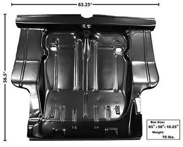 Picture of TRUNK FLOOR COMPLETE 68-70 W/BRACES : 1633N NOVA 68-70