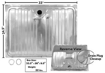 Picture of GAS TANK STAINLESS 67-68 16 GAL. : T02S COUGAR 67-68