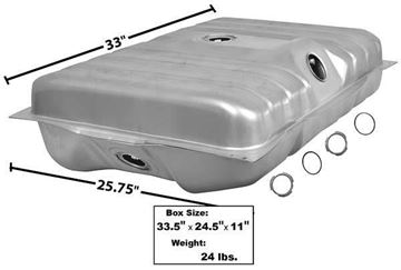 Picture of GAS TANK 71-73 20 GAL. COUGAR : T24B COUGAR 71-73